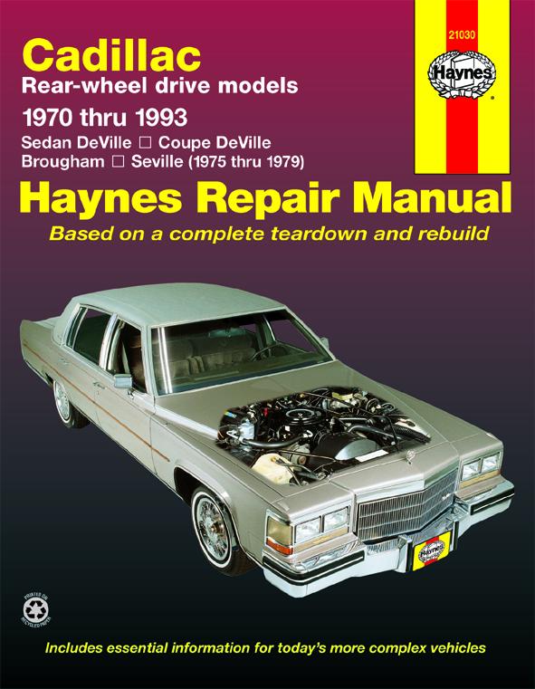 download Cadillac Deville workshop manual