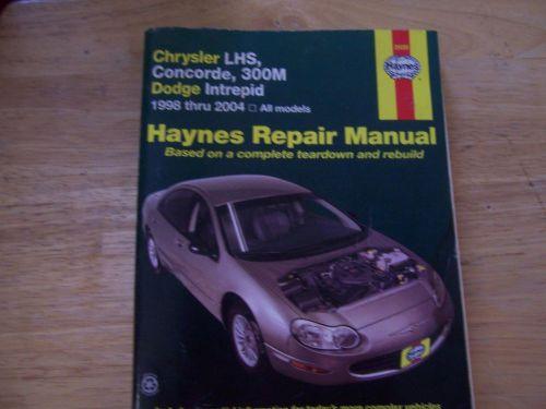 download Chrysler 300M Concorde Intrepid workshop manual