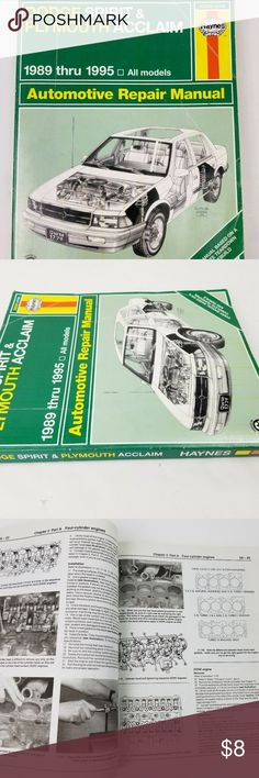 download Chrysler LeBaron Fifth Avenue Acclaim Dodge Shadow OFFICIAL DIY workshop manual