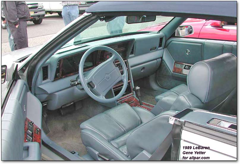 download Chrysler Lebaron workshop manual