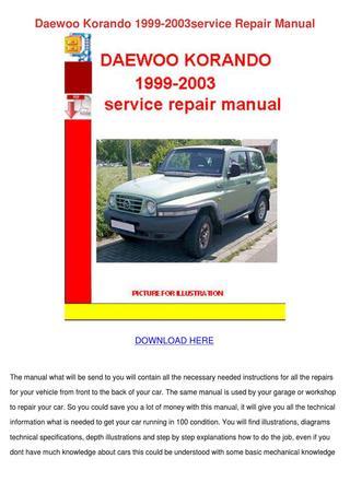 download DAEWOO KORandO workshop manual