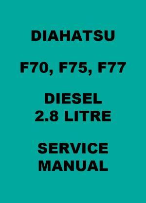 download Daihatsu F70 F75 F77 BODY System workshop manual