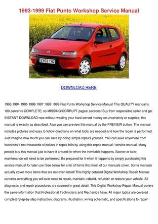 download Fiat Idea MultiLanguage workshop manual
