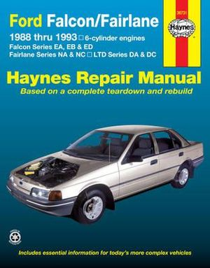 Ford Falcon Fairlane Au Series 1998 2002 Haynes Service Repair Manual Workshop Manuals Australia