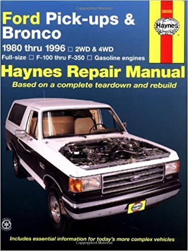 Repair Manual fits 1976-1986 Ford F-150,F-250,F-350 Bronco F-100  CHILTON BOOK C