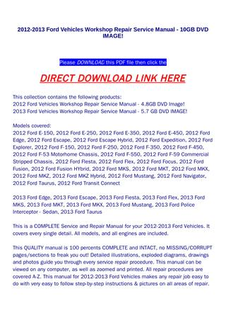 download Ford Vehicles 10GB IMAGE workshop manual