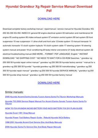 download GRandEUR workshop manual