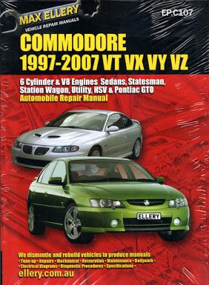 download HOLDEN COMMODORE VT VX VU VY HSV II workshop manual