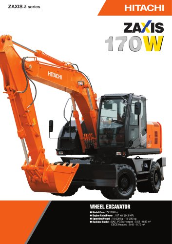 download Hitachi Zaxis ZX 170W 3 190W 3 Wheeled Excavator able workshop manual