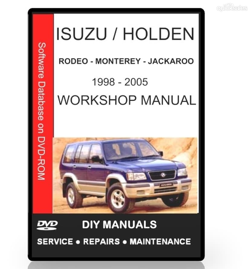 1998 holden jackaroo workshop manual how to and user guide rh taxibermuda co Holden Rodeo 4x4 vs Holden Colorado Rodeo