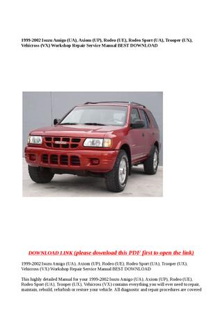 download ISUZU AMIGO workshop manual