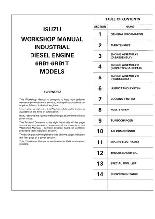 download ISUZU I 370 workshop manual