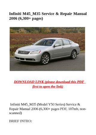download Infiniti M35 workshop manual