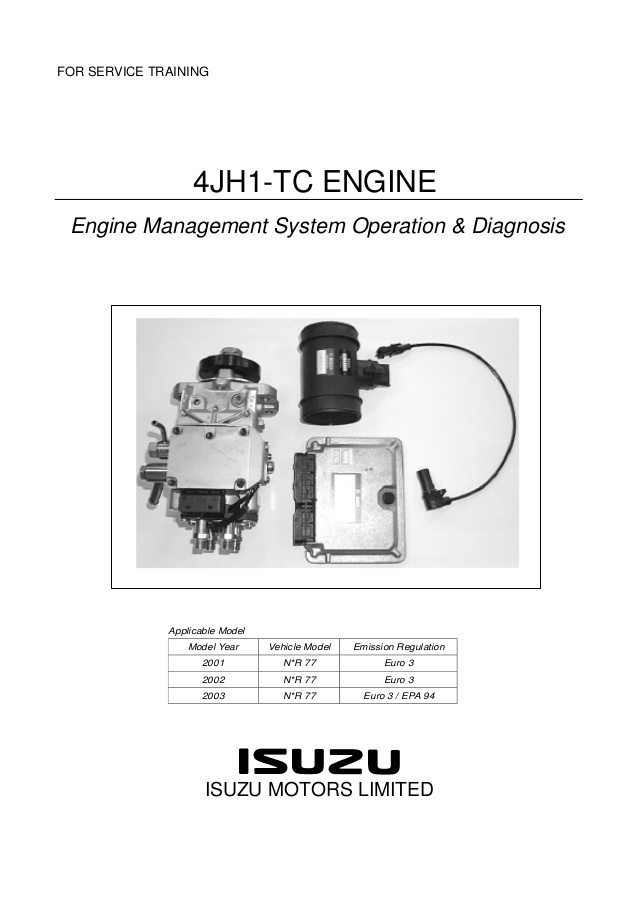 download Isuzu Rodeo UE workshop manual