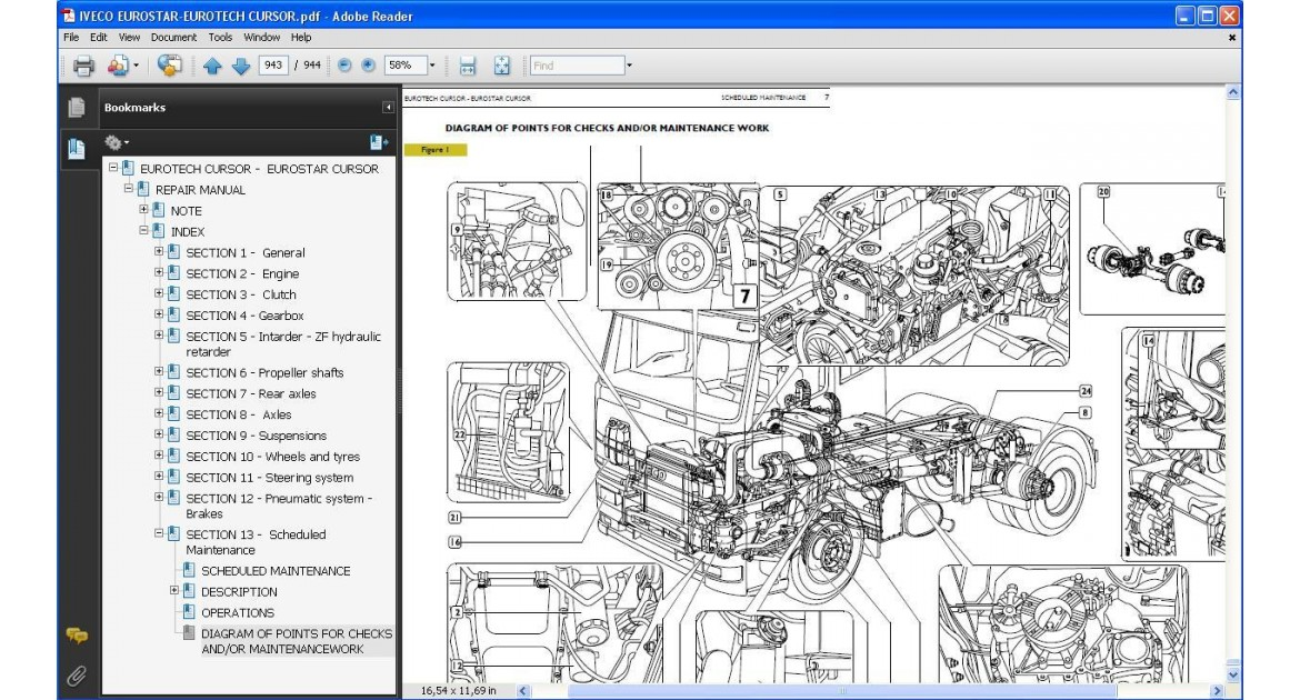 download Iveco Eurotech Eurostar Cursor workshop manual