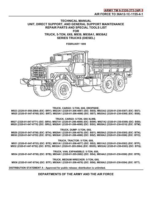 download M939 truck manuals s workshop manual