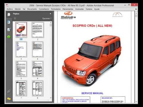 download MAHINDRA SCORPIO CRDe workshop manual