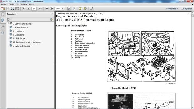 download MERCEDES BENZ ML320 W163 workshop manual