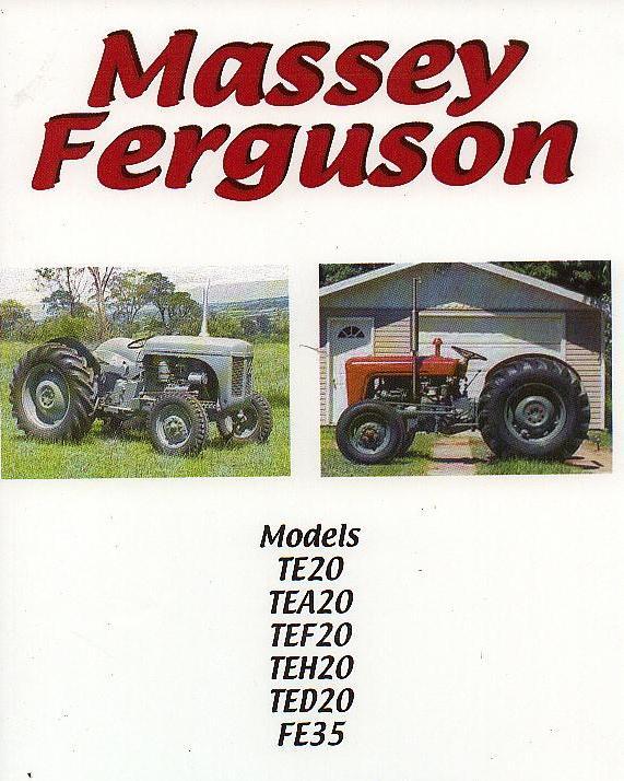 Massey Ferguson Te20 Tractor Factory Workshop And Repair Manual Download Workshop Manuals Australia