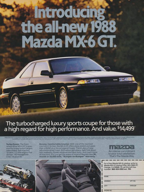 download Mazda 626 MX6 workshop manual