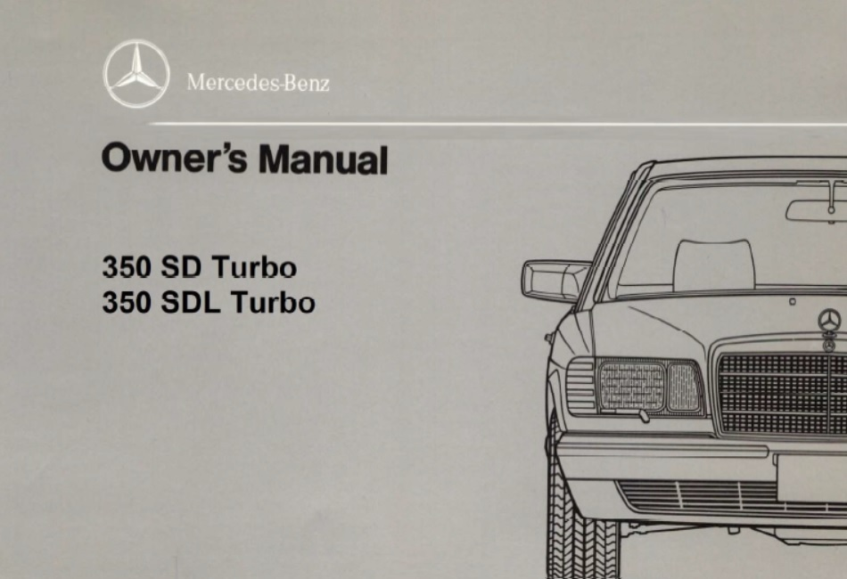 download Mercedes Benz 350SDL w126 workshop manual