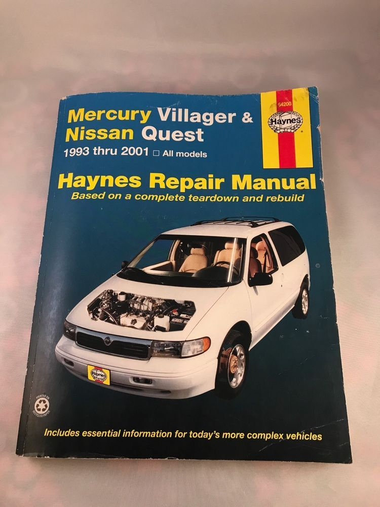 download Mercury Villager workshop manual