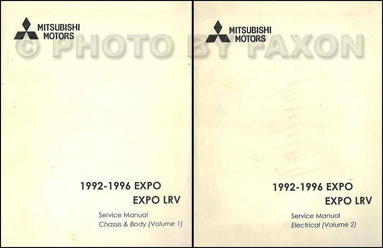 download Mitsubishi Expo workshop manual