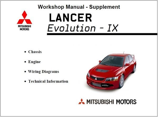 download Mitsubishi Lan Evo 6 7 8 9 10 workshop manual