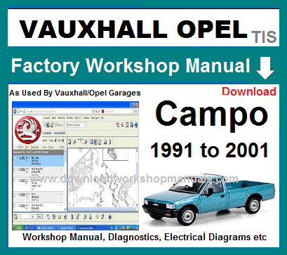 download OPEL CAMPO workshop manual