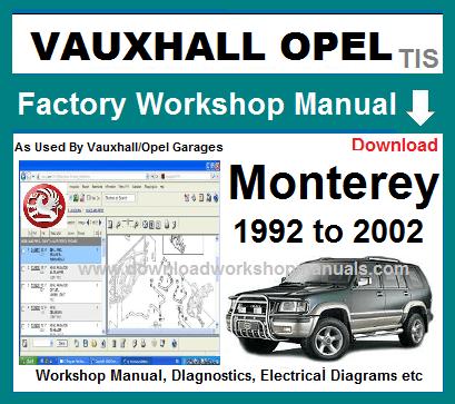 download OPEL MONTEREY workshop manual