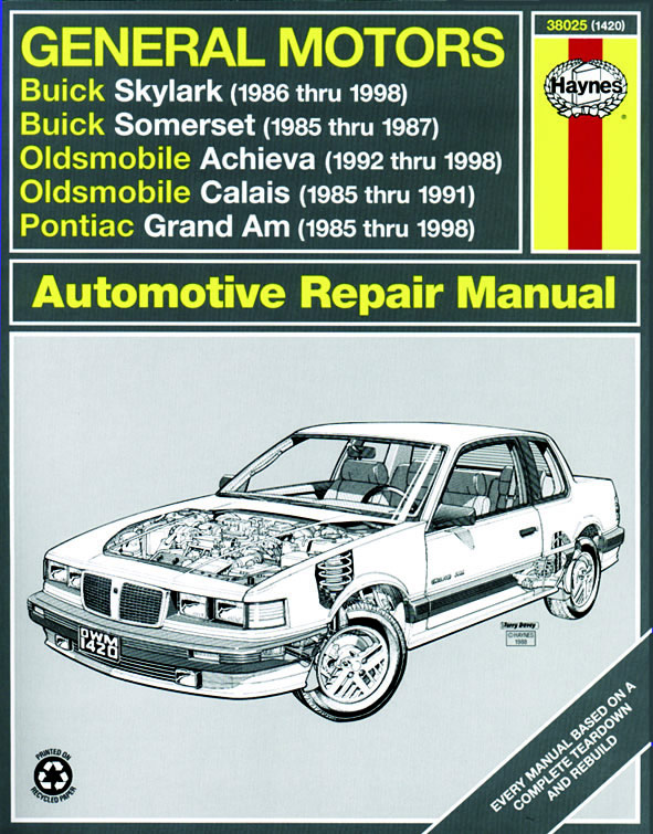 download Oldsmobile Cutlass Calais workshop manual