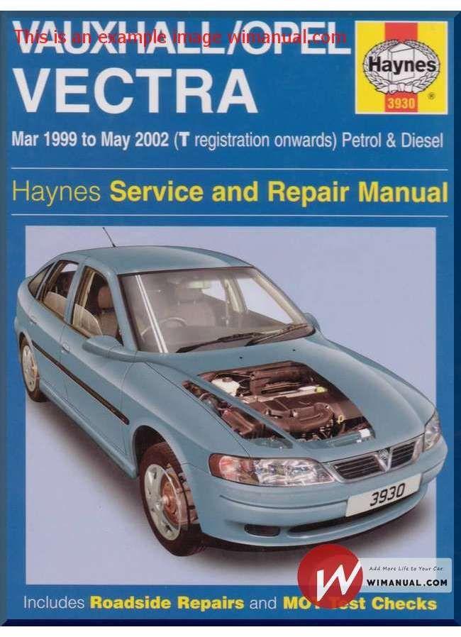 download Opel Vectra workshop manual