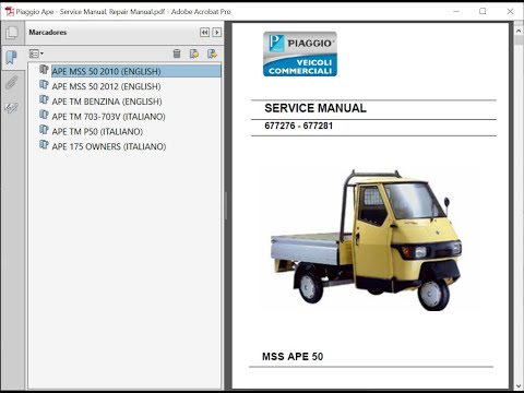 download PIAGGIO APE 50 MSS APE 50 workshop manual