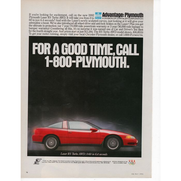download Plymouth Laser workshop manual