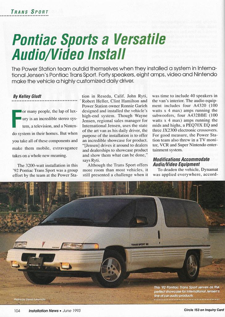 download Pontiac Trans Sport workshop manual