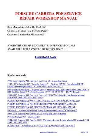 download Porsche E944 workshop manual