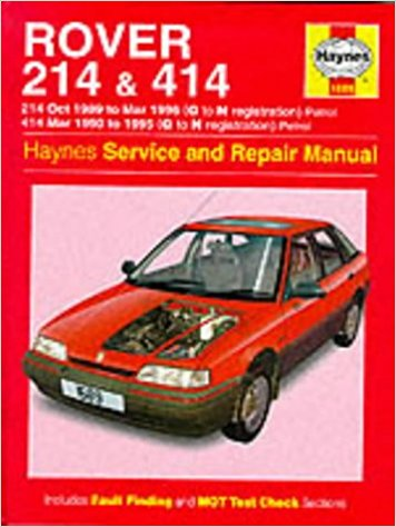 rover 214 414 petrol 1989 1996 haynes service repair manual rh workshopmanualsaustralia com rover 200 repair manual Haynes Manuals UK