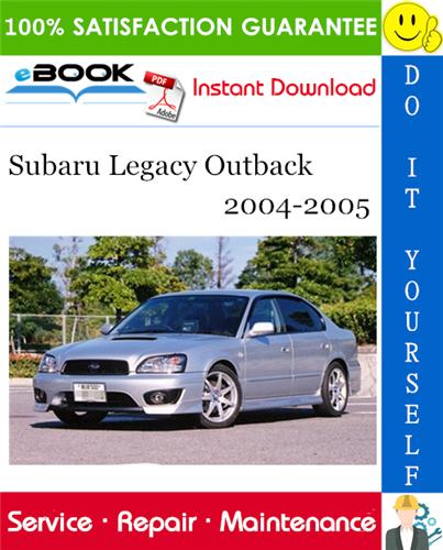 download SUBARU LEGACY OUTBACK workshop manual