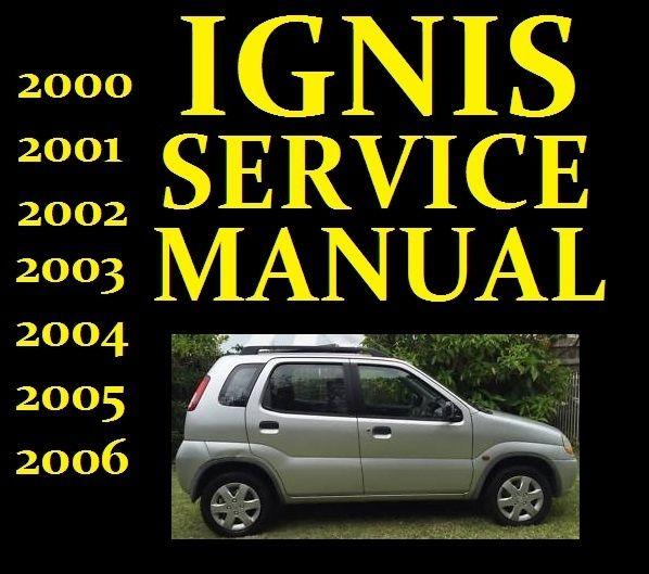 download Suzuki Ignis RG413 RG415 Manuals workshop manual