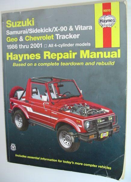 download Suzuki Samurai Sidekick Geo Tracker workshop manual