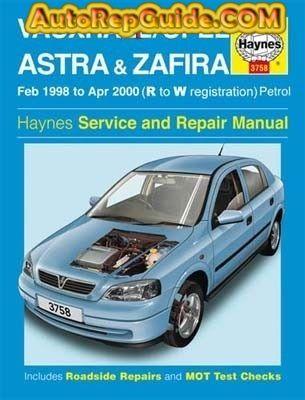 download VAUXHALL ASTRA G workshop manual