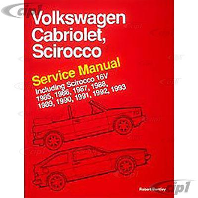 download VOLKSWAGEN CABRIOModels workshop manual