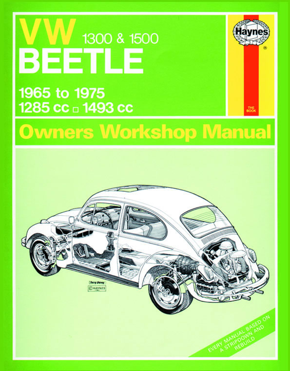 download VW VOLKSWAGEN BEETLE 1300 workshop manual