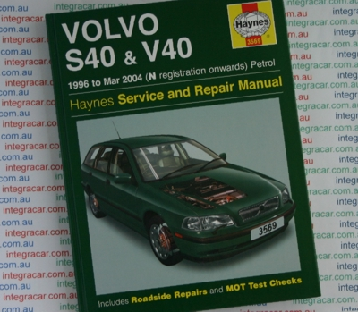 download VOLVO S40 V40 workshop manual