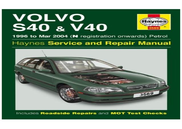 download VOLVO S40 V40 workshop manual