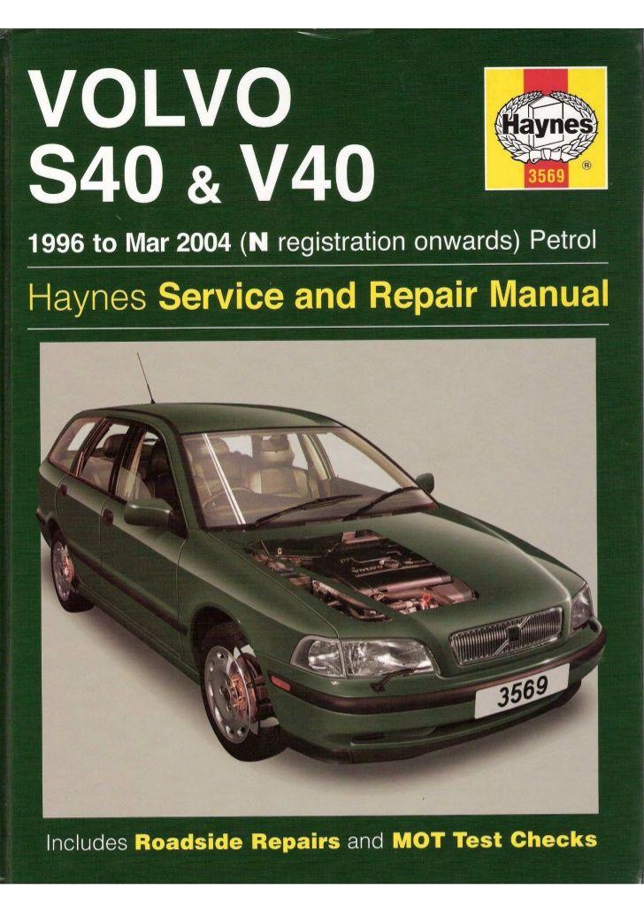 download Volvo S40 workshop manual