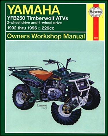 Yamaha YFB250 Timberwolf ATVs 1992 – 2000 Haynes Owners Service and Repair  Manual – Workshop Manuals AustraliaWorkshop Manuals Australia