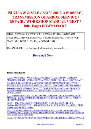 download ZF 4HP22 Transmission FORD JAGUAR BMW ATSG workshop manual