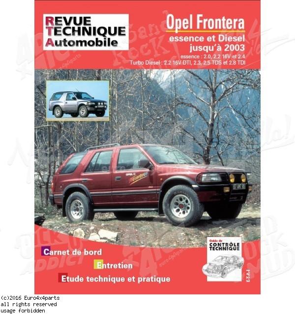download opel frontera vauxhall 19 workshop manual